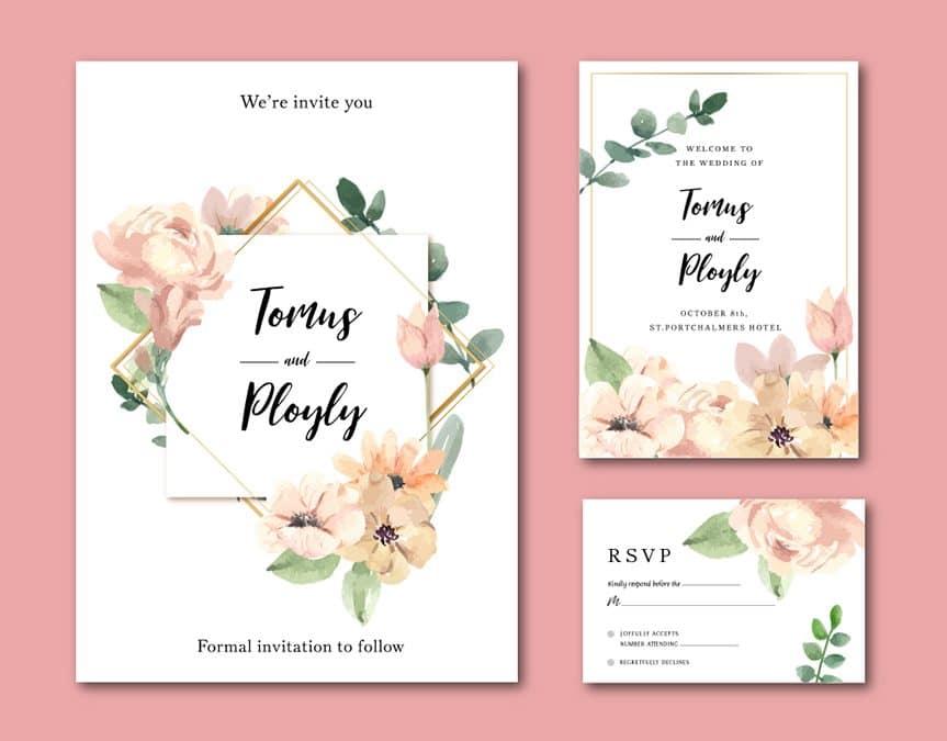 2020 yılına özel düğün davetiyeleri için yazı tipleri