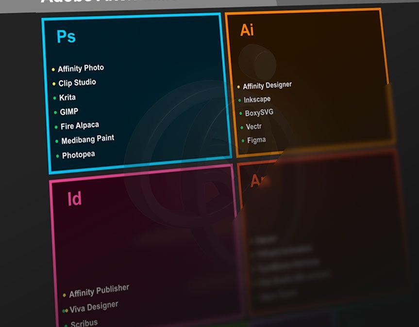 Adobe'nin yerine kullanılabilecek güncel alternatif programlar