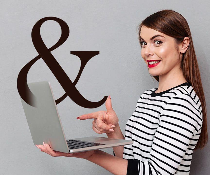 """Tasarımlarınızın en şık sembol, noktalama """" &"""" yazı tipleri"""