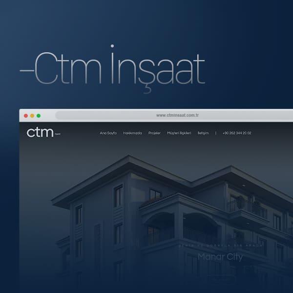 CTM İnşaat - Web Tasarım