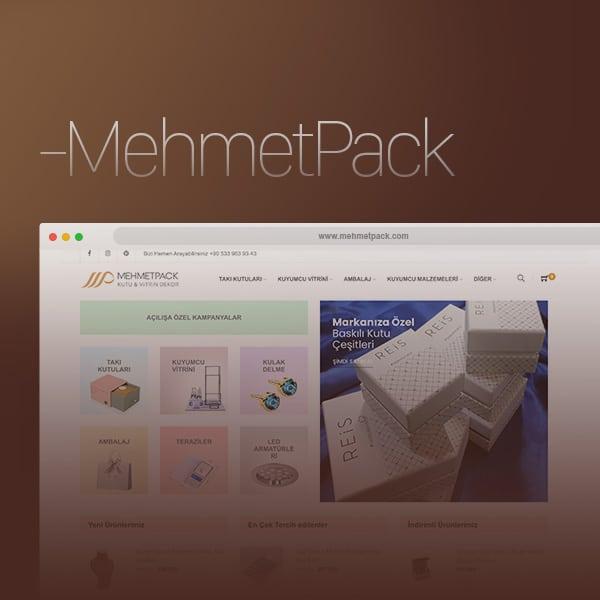 MehmetPack - Eticaret Satış Web Sitesi