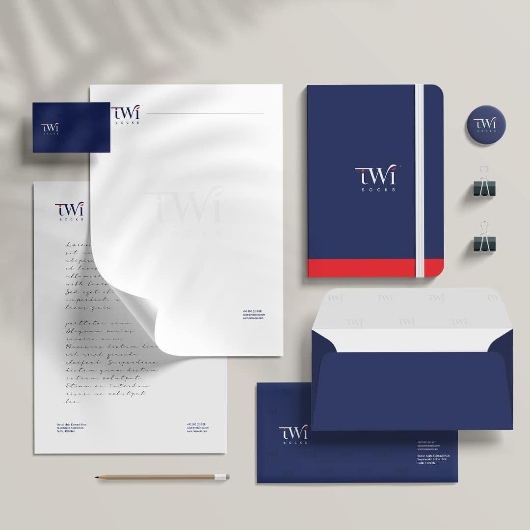 TwiSocks Çorap Logo Tasarım ve Kurumsal Kimlik Tasarım