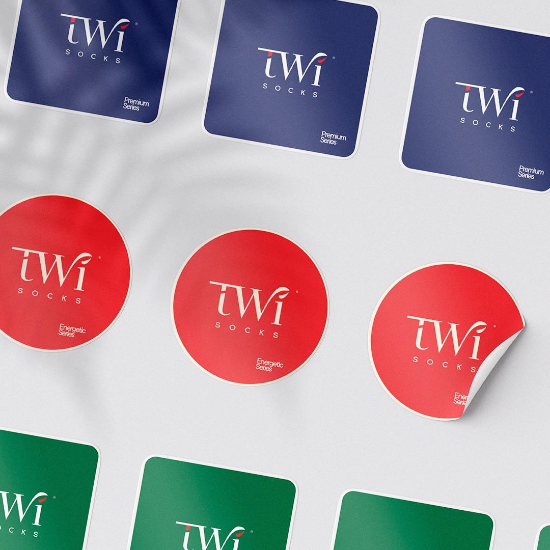 TwiSocks Çorap Logo Tasarım ve Etiket Tasarım