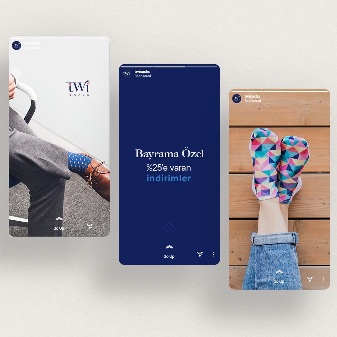 TwiSocks Çorap Logo Tasarım ve Sosyal Medya Tasarım